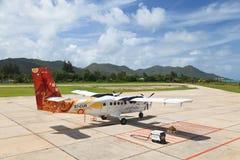 Seychellerna flygplatssikt Arkivbilder