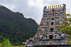 Seychellerna Mahe - 17 Juni 2016 Arul Mihu Navasakthi Vinayagar tempel i Victoria Royaltyfria Bilder