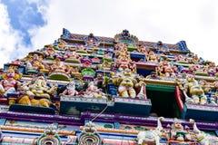 Seychellerna Mahe - 17 Juni 2016 Arul Mihu Navasakthi Vinayagar tempel i Victoria Royaltyfri Foto
