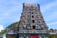 Seychellerna Mahe - 20 Juni 2016 Arul Mihu Navasakthi Vinayagar tempel i Victoria Arkivbilder