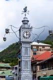 Seychellerna Mahe - 17 Juni 2016 Victoria Clock Tower Royaltyfri Fotografi