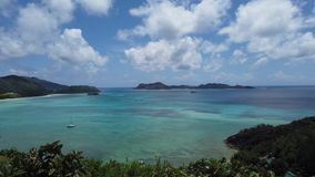 Seychellerna tropisk lyxig destination lager videofilmer