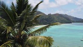 Seychellerna tropisk lyxig destination arkivfilmer