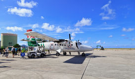Seychelles airport view Stock Photography
