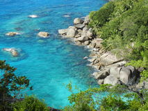 Seychelles, Anse Ważny ślad - Obrazy Royalty Free