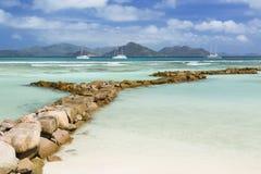Seychelles Beach, La Digue Stock Photography