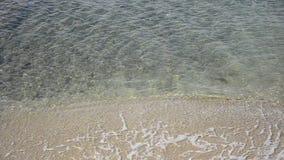 Seychelles calm water waves,. Calm seascape video background, Indian ocean, Seychelles, Praslin, Anse Lazio stock video