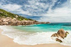 Seychelles. Desert beach. Stock Image