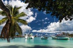Seychelles. Desert beach. Stock Photo
