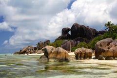 Seychelles dream beach Granite rock Stock Photo