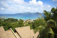 Seychelles. Dream seascape view, Seychelles, La Digue island Stock Image