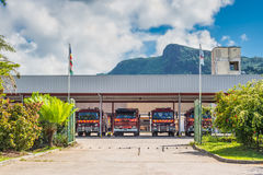 Seychelles Fire And Rescue Station Stock Photography