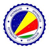 Seychelles flag badge. Royalty Free Stock Photos