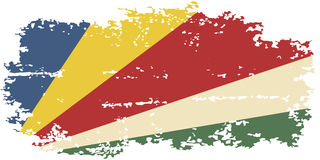 Seychelles grunge flag. Vector illustration. Royalty Free Stock Images