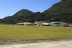 Seychelles International Airport on the Mahe Island. Royalty Free Stock Photography