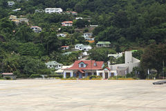 Seychelles International Airport on the Mahe Island. Royalty Free Stock Image