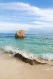 Seychelles. Isla de Digue del La. foto de archivo libre de regalías