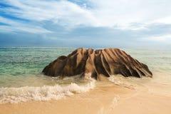 Seychelles. Isla de Digue del La. imagen de archivo libre de regalías