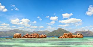 Seychelles Islands panorama Stock Photo