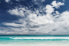 Seychelles. Desert beach Royalty Free Stock Image