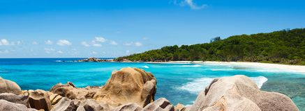 Seychelles, La Digue island Stock Images