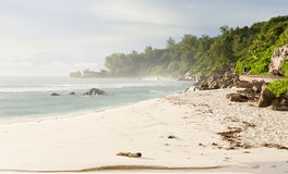 Seychelles, LaDigue island, tropical beach Stock Photography