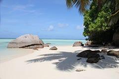 Seychelles, Mahe. Stunning view at a roadside beach of Mahe island Seychelles Stock Image