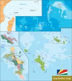 Seychelles map Royalty Free Stock Photography