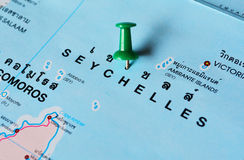 Seychelles map Stock Photo