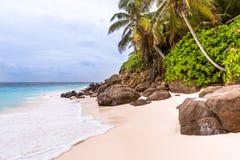 Seychelles, Paradise beach. La Digue at Anse Lazio, Source d'A. Rgent Stock Photos