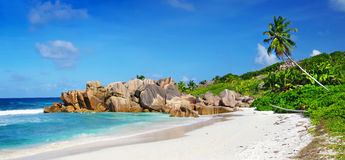Seychelles plaże Obrazy Royalty Free