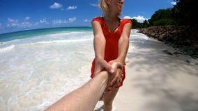 Seychelles Praslin Couple stock video footage