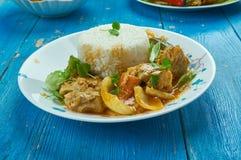 Seychelles ryba curry obraz stock