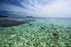 Seychelles seascape. Stock Photo