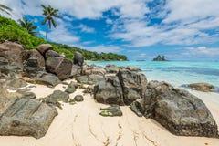 Seychelles seascape - Ance Royale Beach, Mahe Island, Seychelles Royalty Free Stock Photo
