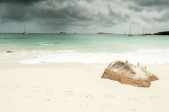 Seychelles seascape Royalty Free Stock Image