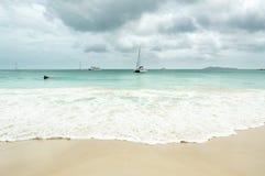 Seychelles seascape Stock Photos