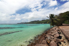 Seychelles seascape. Mahe island. Stock Photo
