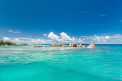 Seychelles. Beautiful landscape. Crystal clear water Royalty Free Stock Photography