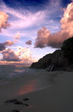 Seychelles sunset Royalty Free Stock Images