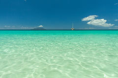 Seychelles. Transparent turquoise water Royalty Free Stock Photography