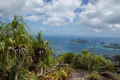 Seychelles Visión desde las montañas al Océano Índico Imagenes de archivo