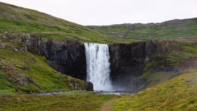 Seydisfjördur waterfall on Iceland Stock Photos