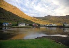 Seydisfjordur Stock Afbeeldingen