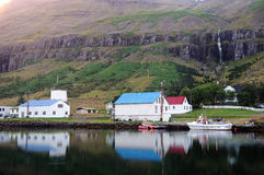 Seydisfjordur, beautiful town in Iceland. Royalty Free Stock Photography
