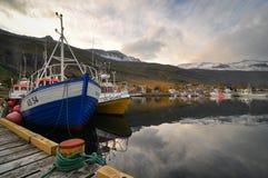 Seydisfjordur hamn Arkivbild