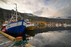 Seydisfjordur Harbor. The harbor in Seydisfjordur in eastern Iceland Stock Photography