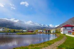 Seydisfjordur, IJsland royalty-vrije stock afbeelding