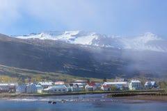 Seydisfjordur, Islândia foto de stock