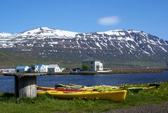 Seydisfjordur Kayaks Stock Image